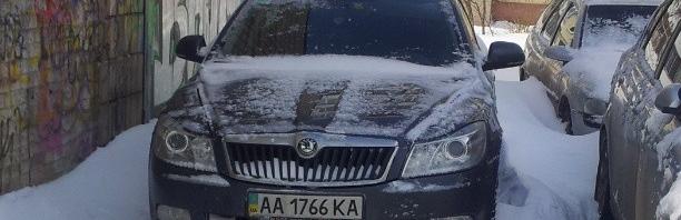 Спрятался от снега :)