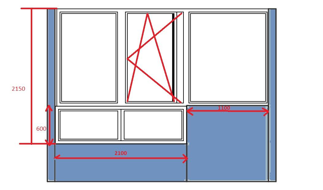 Как сделать глухое окно